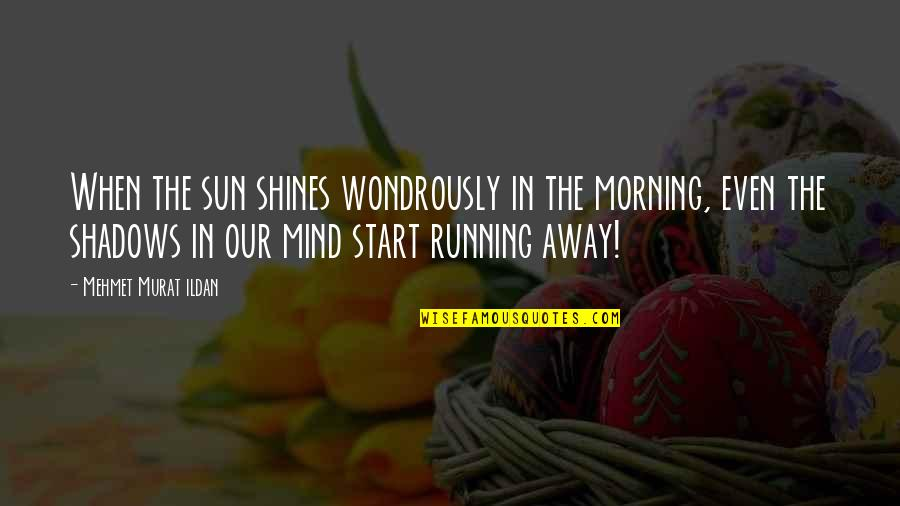 Morning Sun Quotes By Mehmet Murat Ildan: When the sun shines wondrously in the morning,