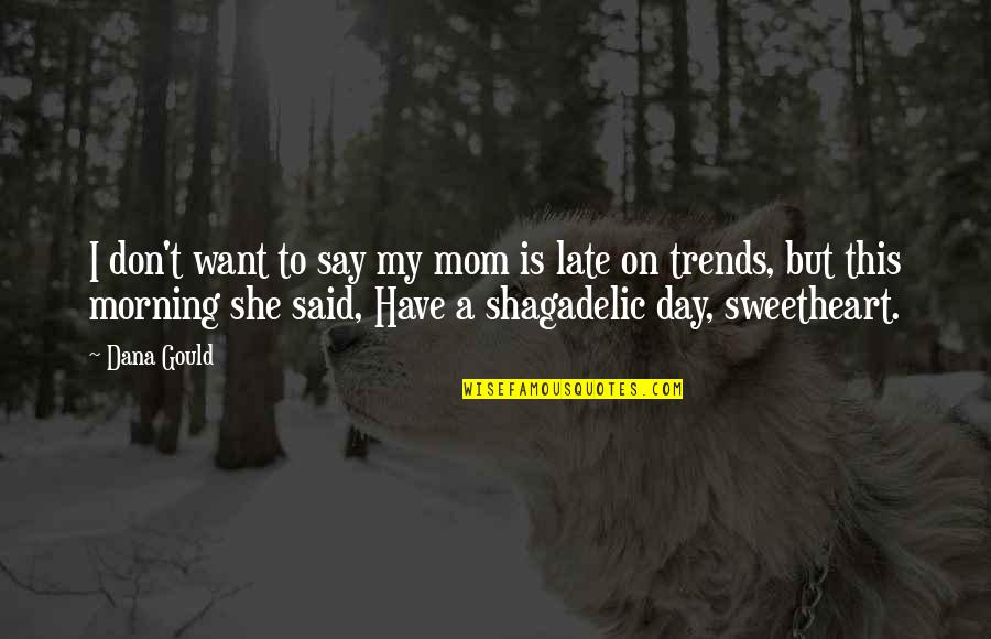Morning Sweetheart Quotes By Dana Gould: I don't want to say my mom is