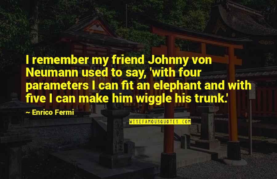 Morpho Quotes By Enrico Fermi: I remember my friend Johnny von Neumann used