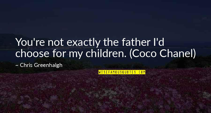 Mortal Instrumen Quotes By Chris Greenhalgh: You're not exactly the father I'd choose for