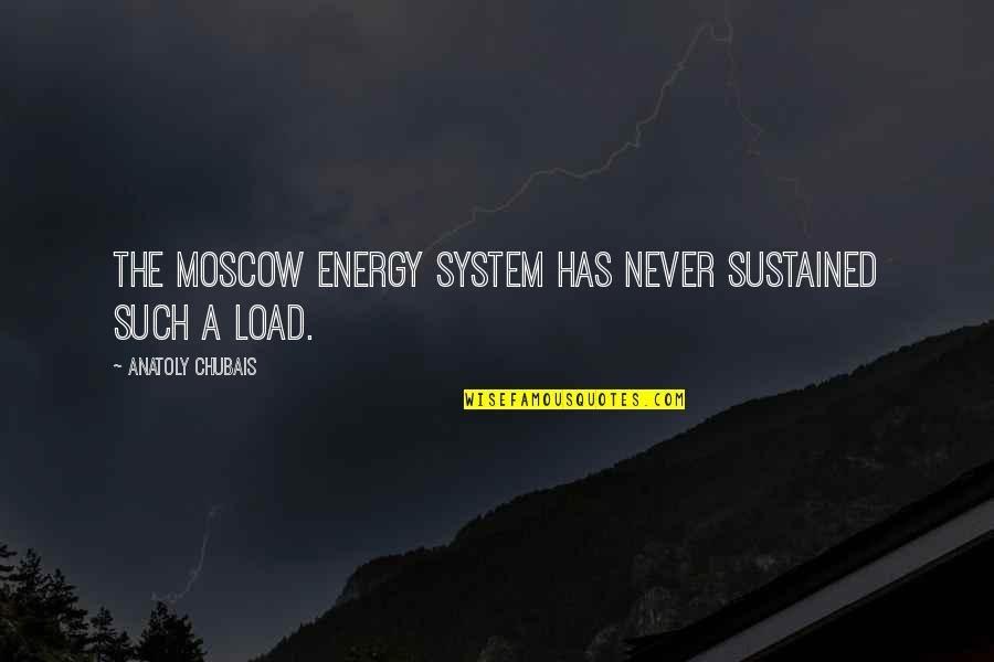 Moscow's Quotes By Anatoly Chubais: The Moscow energy system has never sustained such