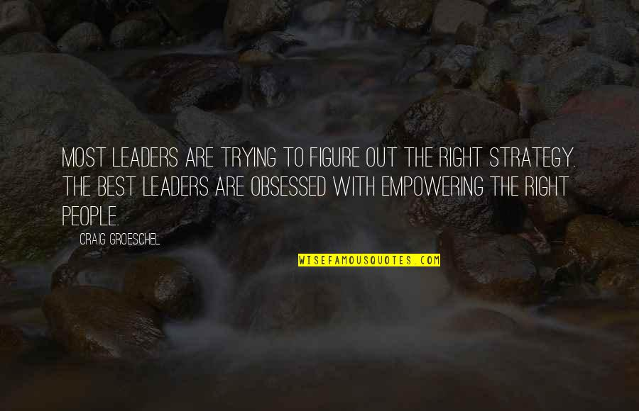 Most Empowering Quotes By Craig Groeschel: Most leaders are trying to figure out the