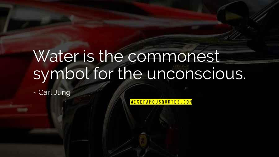 Most Inspirational One Line Quotes By Carl Jung: Water is the commonest symbol for the unconscious.