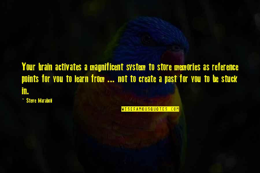 Most Magnificent Quotes By Steve Maraboli: Your brain activates a magnificent system to store
