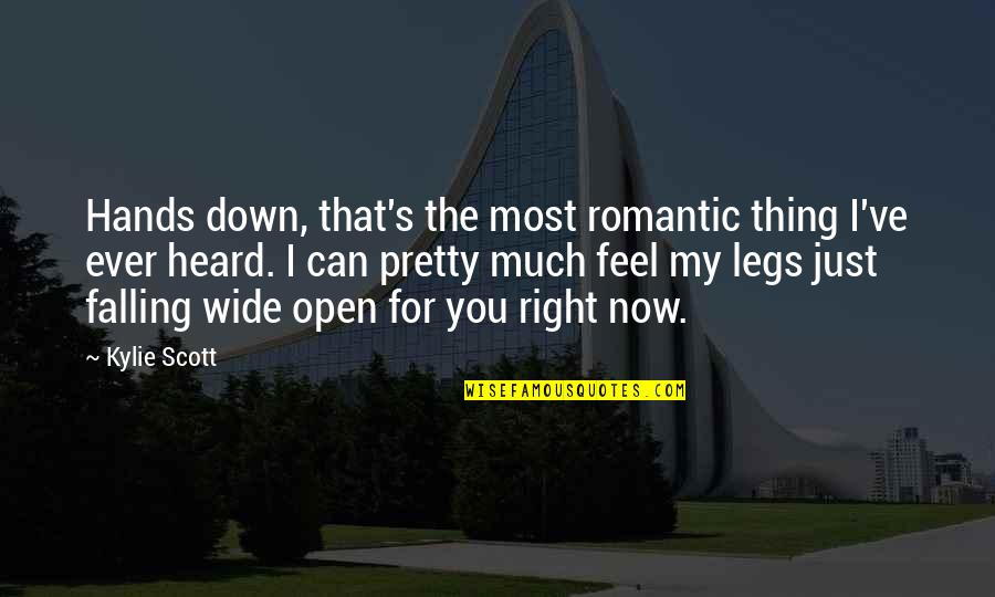 Most Romantic Quotes By Kylie Scott: Hands down, that's the most romantic thing I've