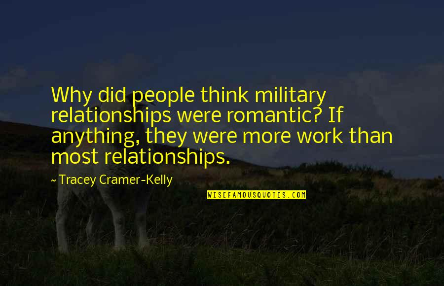 Most Romantic Quotes By Tracey Cramer-Kelly: Why did people think military relationships were romantic?