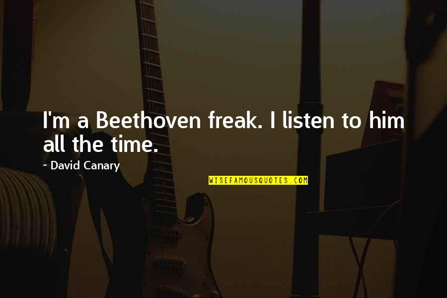 Mothers And Babies Quotes By David Canary: I'm a Beethoven freak. I listen to him
