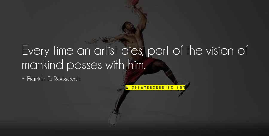 Motivational Artist Quotes By Franklin D. Roosevelt: Every time an artist dies, part of the