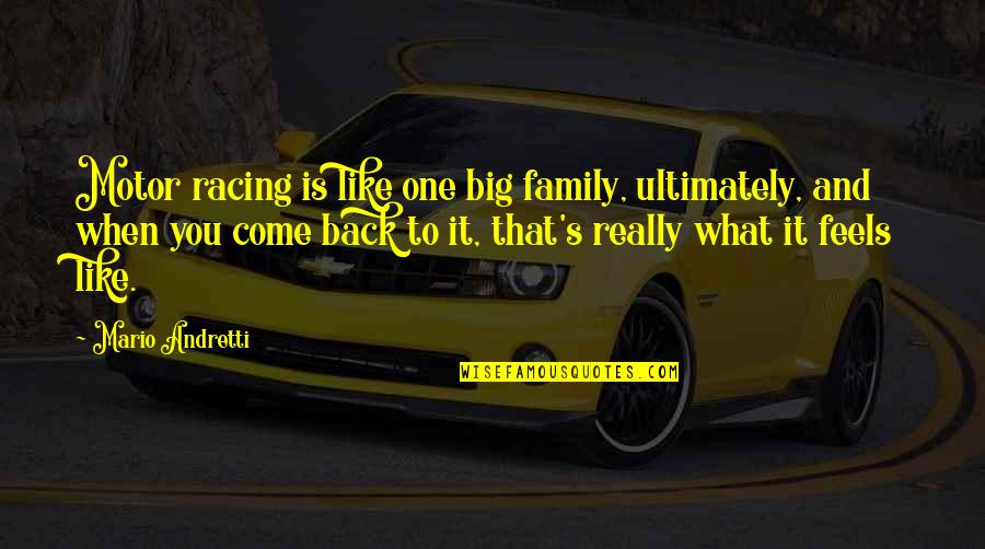 Motor Racing Quotes By Mario Andretti: Motor racing is like one big family, ultimately,