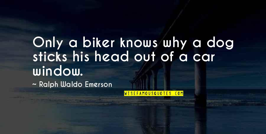 Motor Racing Quotes By Ralph Waldo Emerson: Only a biker knows why a dog sticks