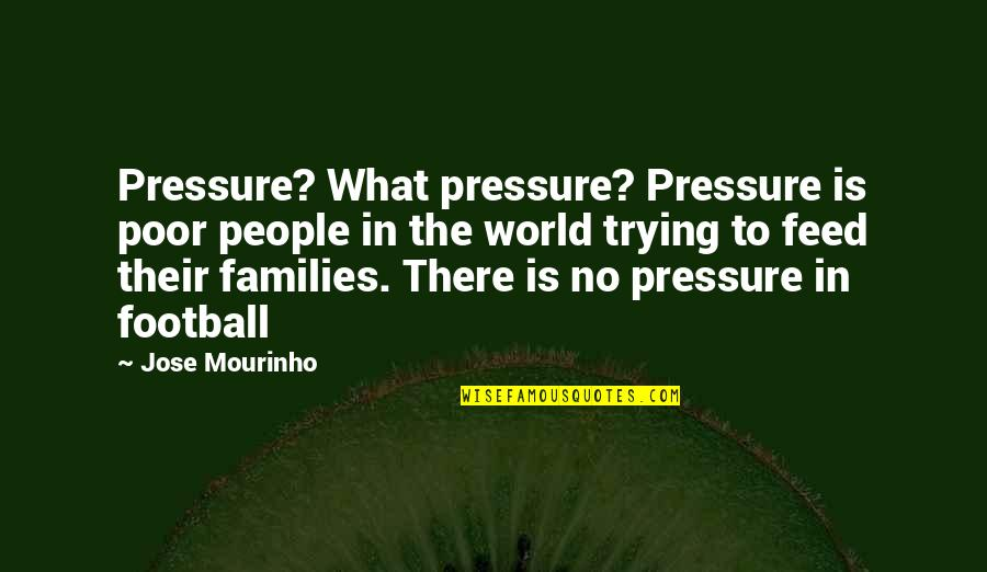 Mourinho Quotes By Jose Mourinho: Pressure? What pressure? Pressure is poor people in