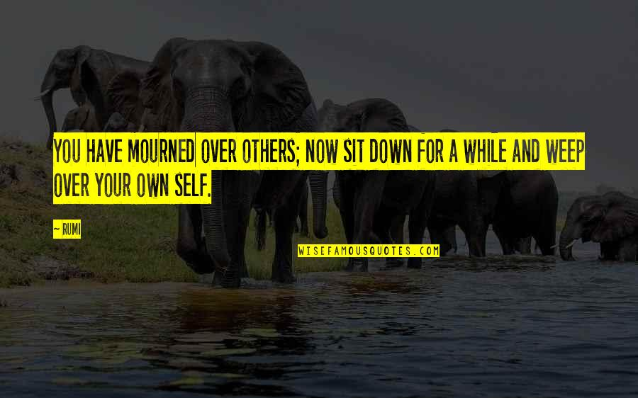 Mourned Quotes By Rumi: You have mourned over others; now sit down