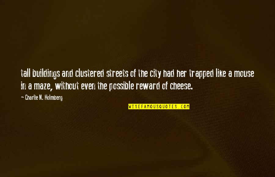 Mouse And Cheese Quotes By Charlie N. Holmberg: tall buildings and clustered streets of the city