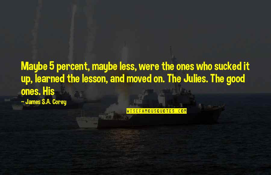 Moved Up Quotes By James S.A. Corey: Maybe 5 percent, maybe less, were the ones