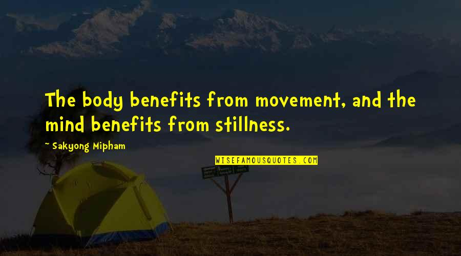 Movement And Stillness Quotes By Sakyong Mipham: The body benefits from movement, and the mind