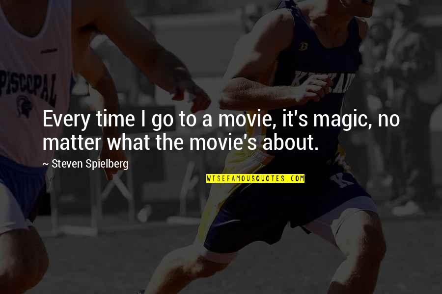 Movie Go Quotes By Steven Spielberg: Every time I go to a movie, it's