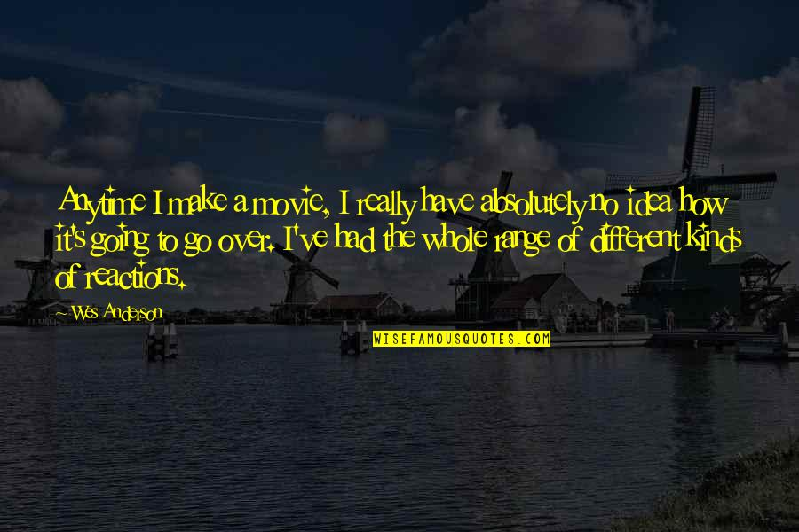 Movie Go Quotes By Wes Anderson: Anytime I make a movie, I really have