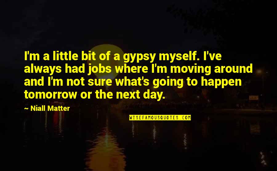 Moving Jobs Quotes By Niall Matter: I'm a little bit of a gypsy myself.