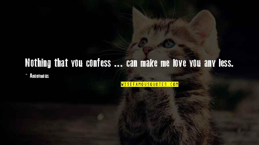 Moving On To The Next One Quotes By Anonymous: Nothing that you confess ... can make me