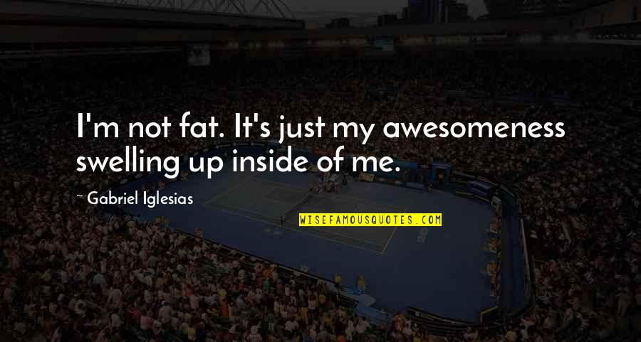 Moving On To The Next One Quotes By Gabriel Iglesias: I'm not fat. It's just my awesomeness swelling