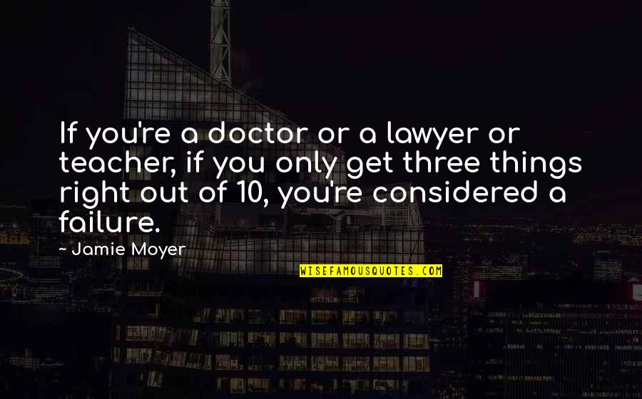 Moyer Quotes By Jamie Moyer: If you're a doctor or a lawyer or