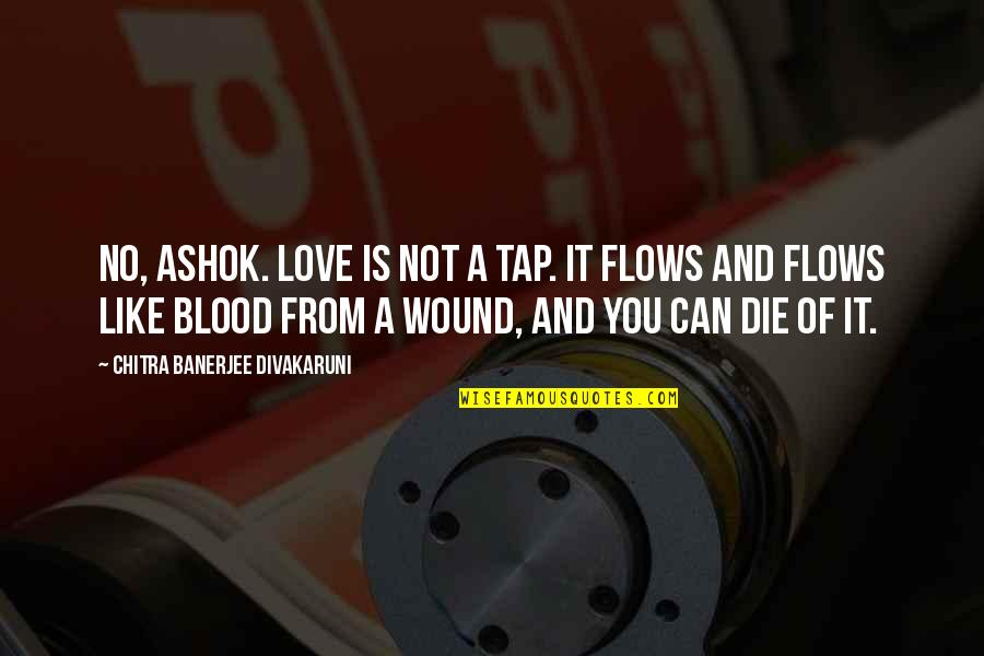Mr Ashok Quotes By Chitra Banerjee Divakaruni: No, Ashok. Love is not a tap. It