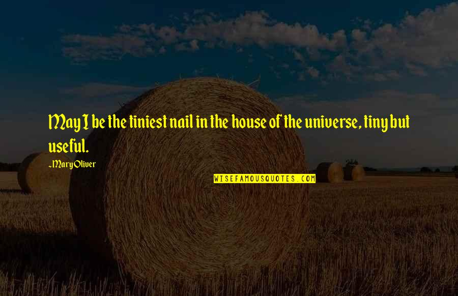 Mr Tiny Quotes By Mary Oliver: May I be the tiniest nail in the