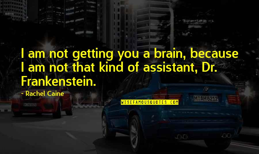 Mrs Danvers Quotes By Rachel Caine: I am not getting you a brain, because