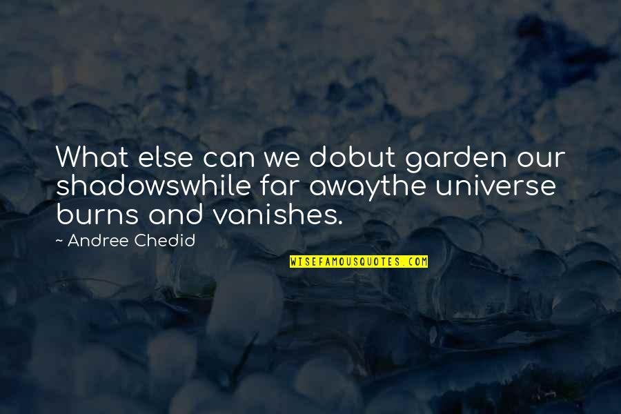 Muciaccia Quotes By Andree Chedid: What else can we dobut garden our shadowswhile