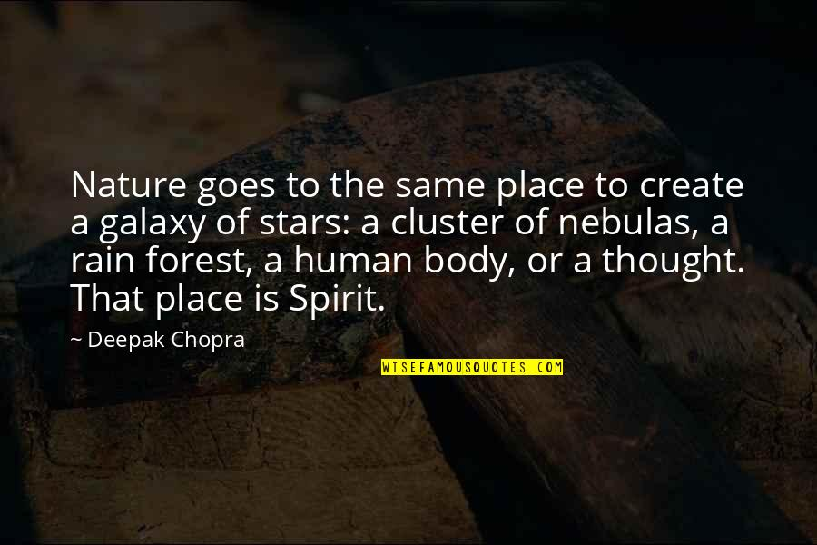 Muhammad Ali Quran Quotes By Deepak Chopra: Nature goes to the same place to create