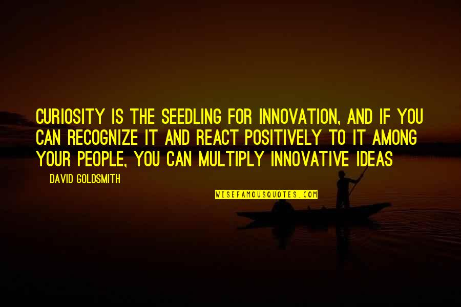Multiply Quotes By David Goldsmith: Curiosity is the seedling for innovation, and if