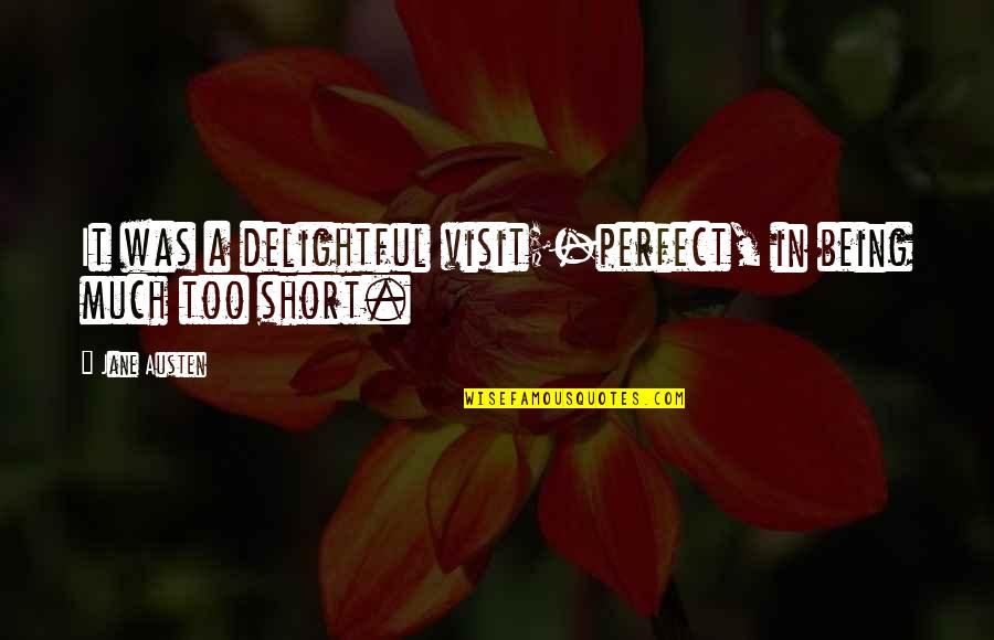 Multiprocessing Quotes By Jane Austen: It was a delightful visit;-perfect, in being much