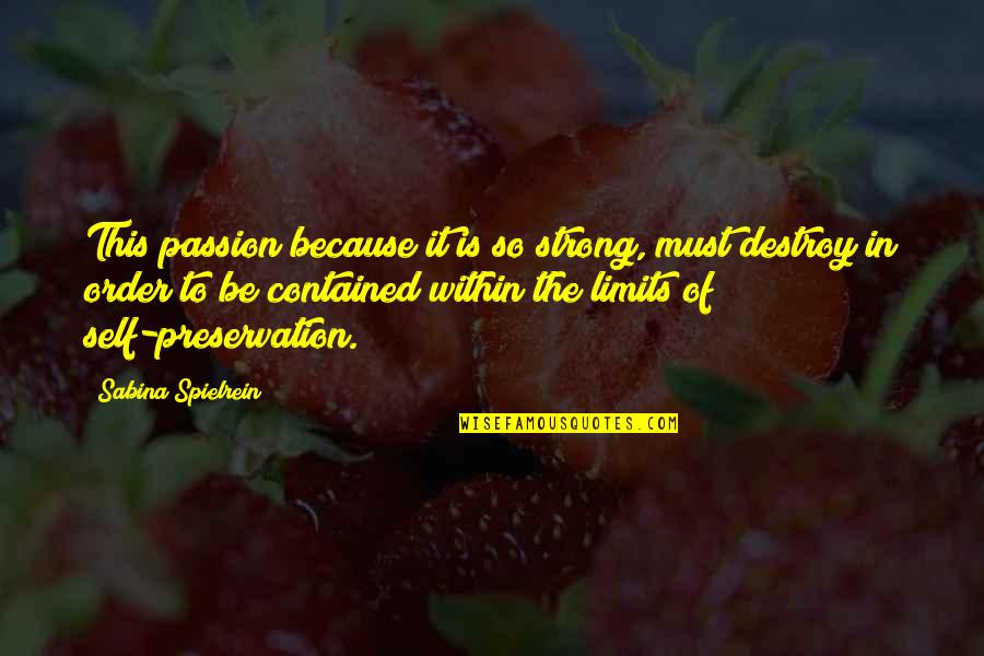 Murdoc Quotes By Sabina Spielrein: This passion because it is so strong, must