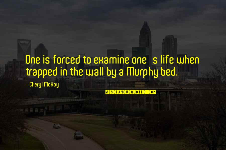 Murphy's Quotes By Cheryl McKay: One is forced to examine one's life when