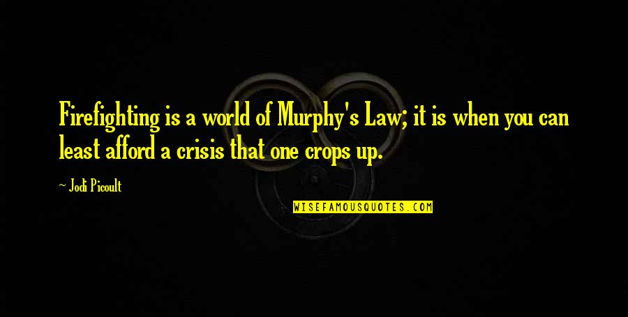Murphy's Quotes By Jodi Picoult: Firefighting is a world of Murphy's Law; it