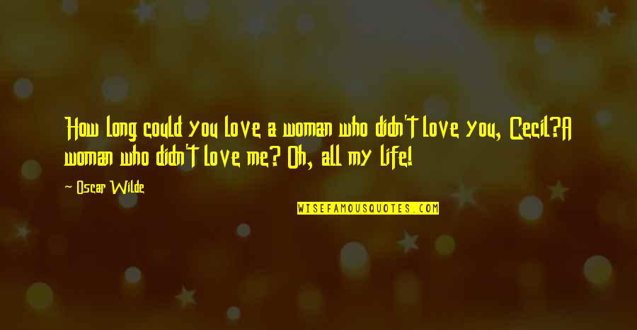 Murs Love Quotes By Oscar Wilde: How long could you love a woman who