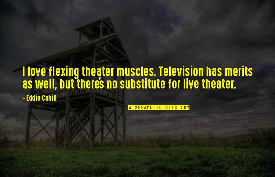 Muscles Quotes By Eddie Cahill: I love flexing theater muscles. Television has merits