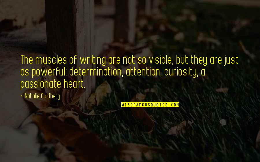 Muscles Quotes By Natalie Goldberg: The muscles of writing are not so visible,