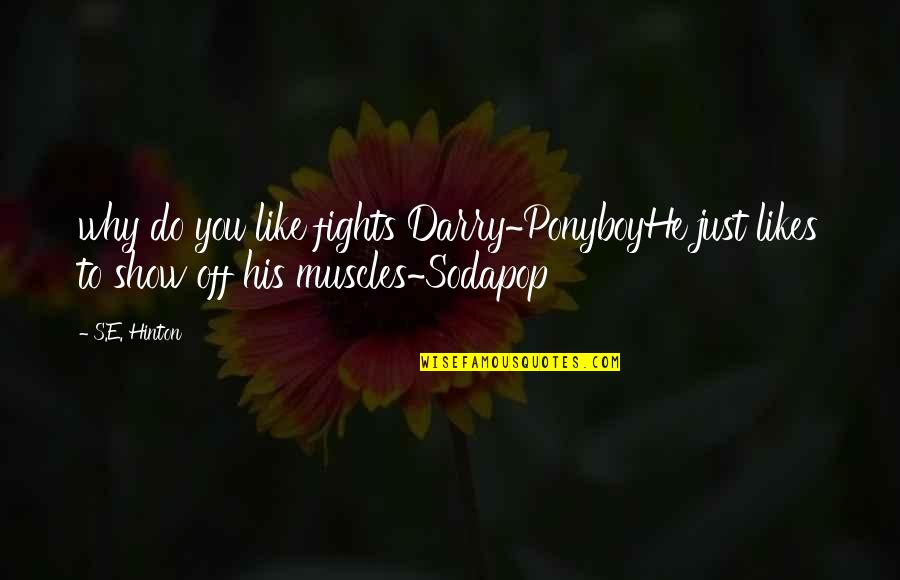 Muscles Quotes By S.E. Hinton: why do you like fights Darry~PonyboyHe just likes