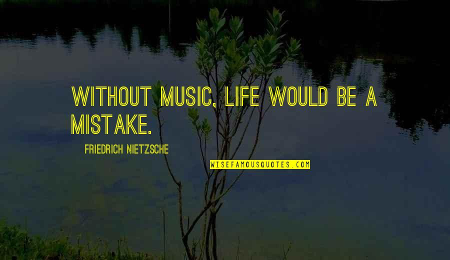Music And Life Inspirational Quotes By Friedrich Nietzsche: Without music, life would be a mistake.