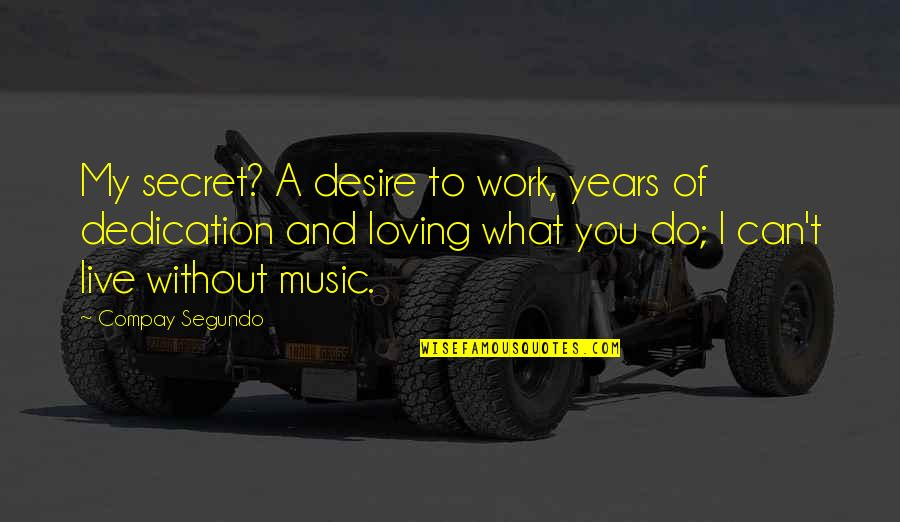Music And Live Quotes By Compay Segundo: My secret? A desire to work, years of
