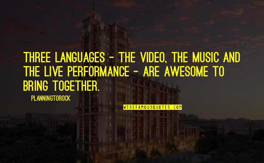 Music And Live Quotes By Planningtorock: Three languages - the video, the music and
