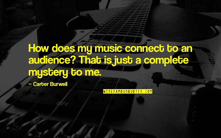 Music Connect Quotes By Carter Burwell: How does my music connect to an audience?