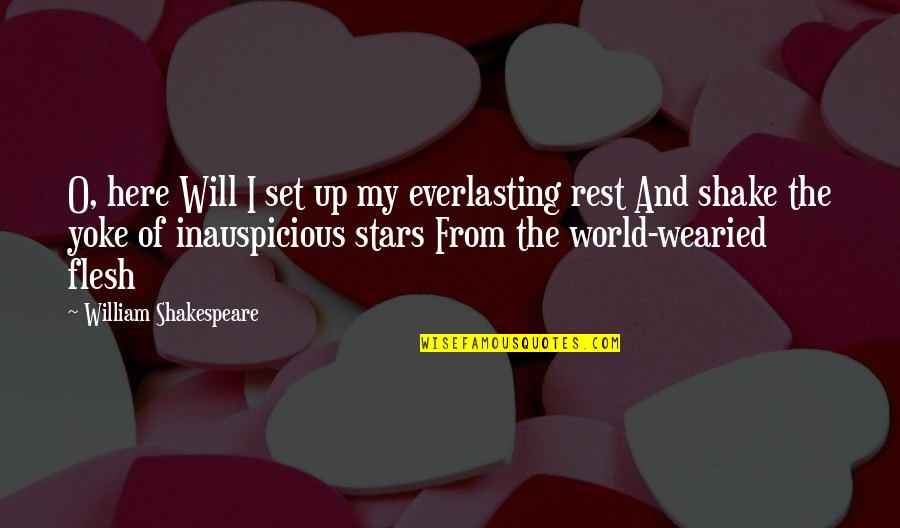 Music Facebook Covers Quotes By William Shakespeare: O, here Will I set up my everlasting