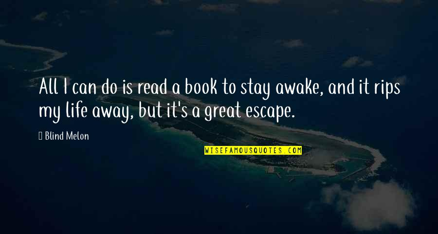 Music Lyrics Quotes By Blind Melon: All I can do is read a book