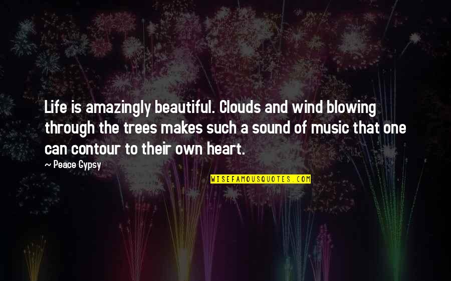 Music Makes My Life Quotes By Peace Gypsy: Life is amazingly beautiful. Clouds and wind blowing