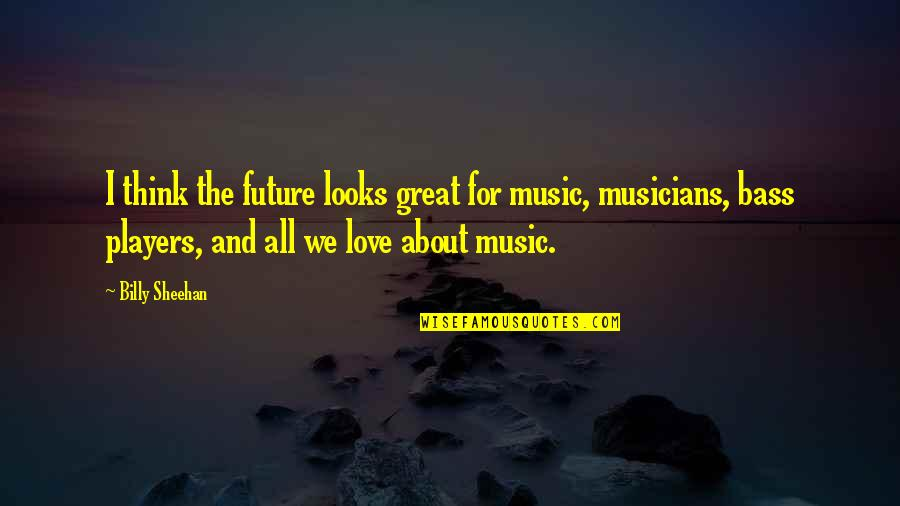 Music Musicians Quotes By Billy Sheehan: I think the future looks great for music,