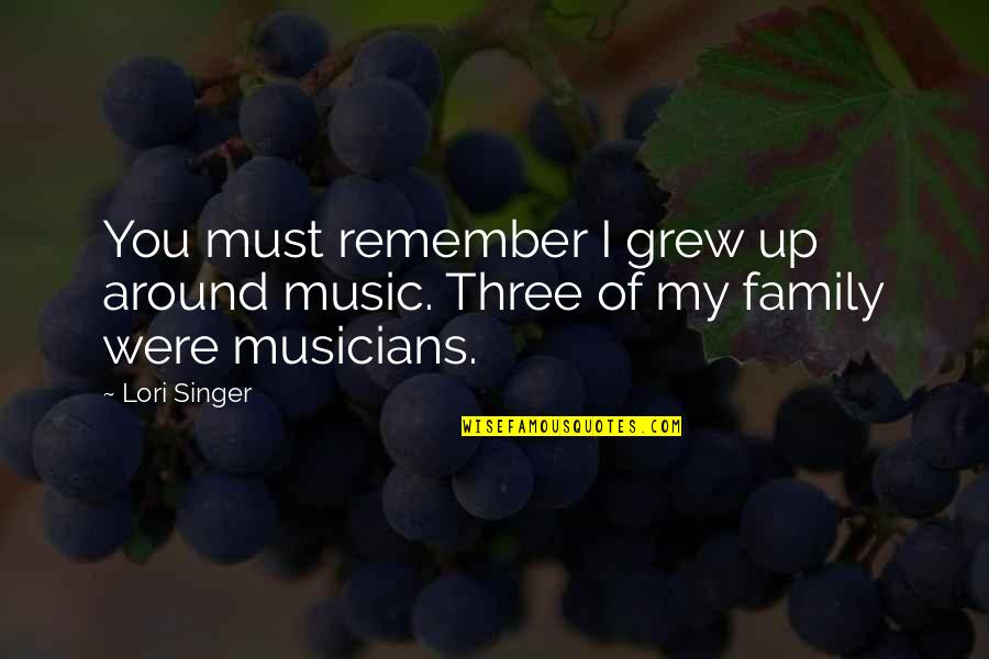 Music Musicians Quotes By Lori Singer: You must remember I grew up around music.