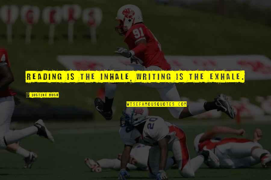 Musk Quotes By Justine Musk: Reading is the inhale, writing is the exhale.