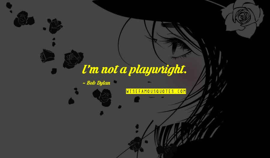 My Daddy Told Me Quotes By Bob Dylan: I'm not a playwright.